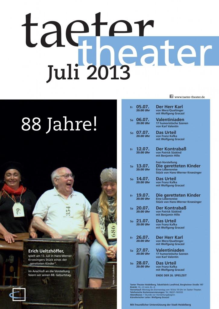 Taeter Programm im Juli